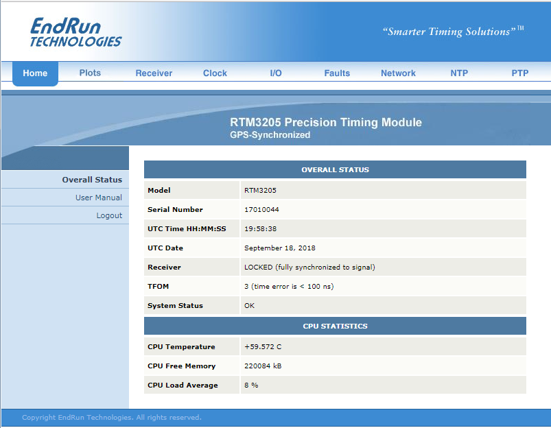RTM3205 Sample Web Page